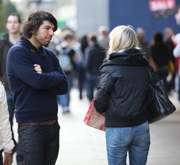 Pornstars pick up guys at a coffee shop