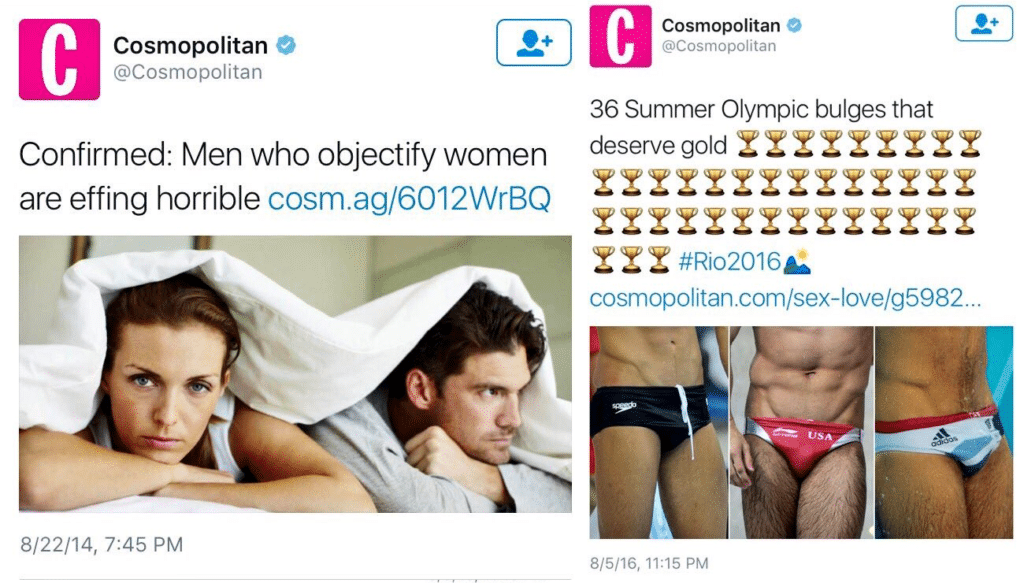 Screenshot of Cosmopolitan Twitter account.