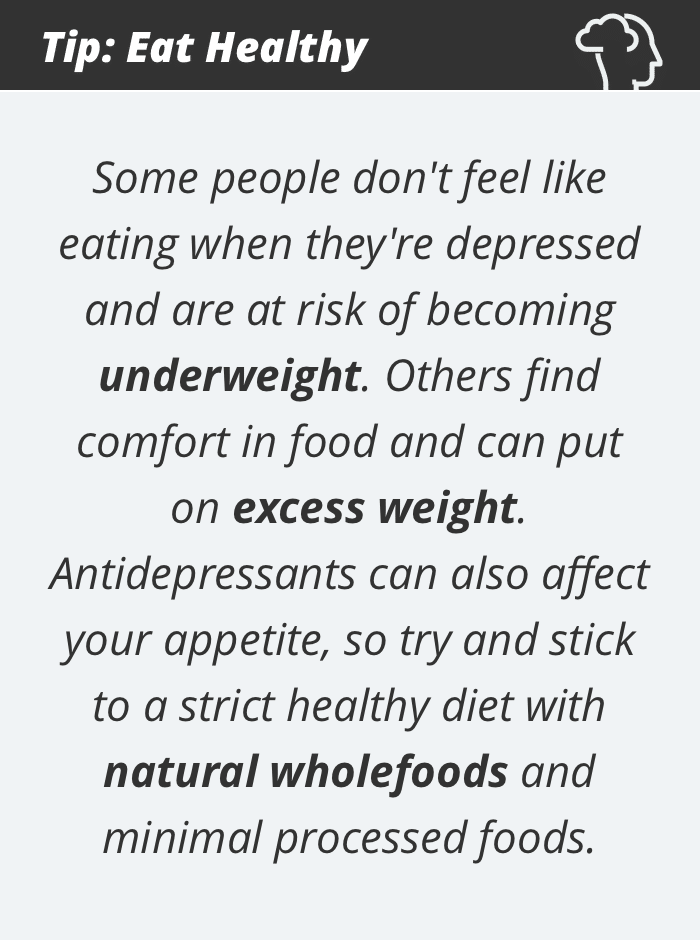 Depression tip #4: Eat healthy
