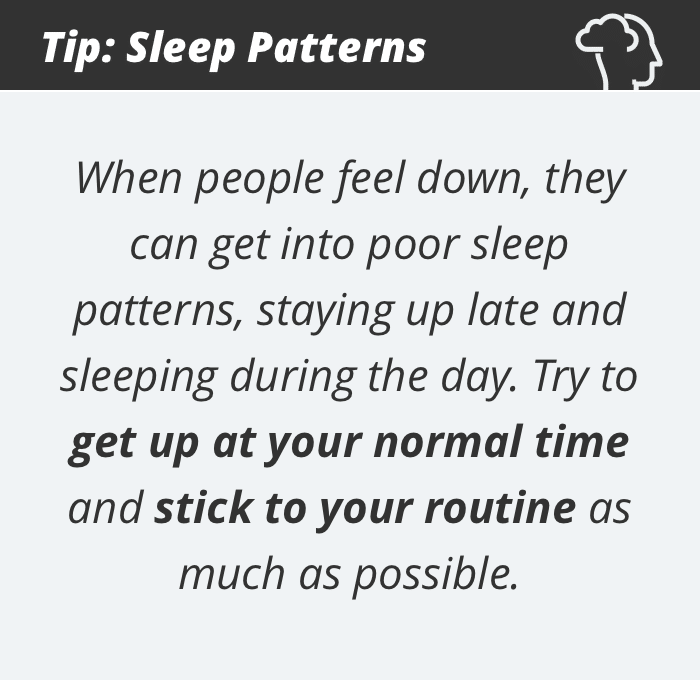 Depression tip #5: Sleep patterns