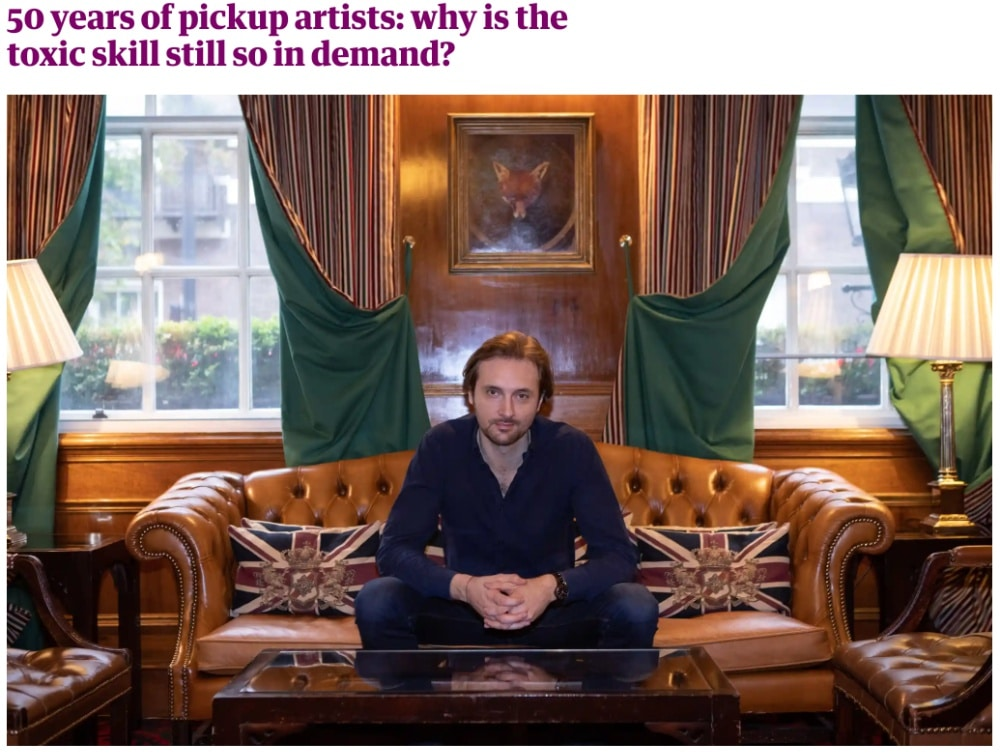 Screenshot of Guardian article