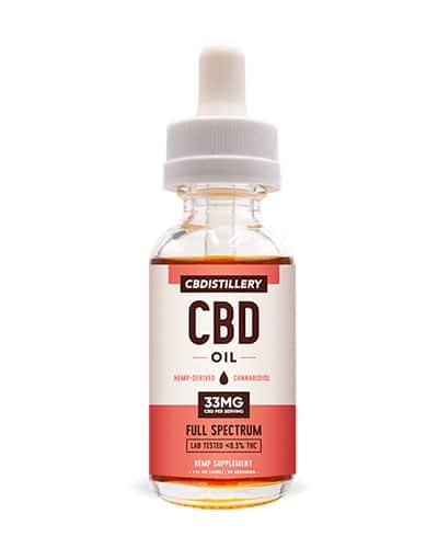 Product photo of CBDistillery tincture oil.