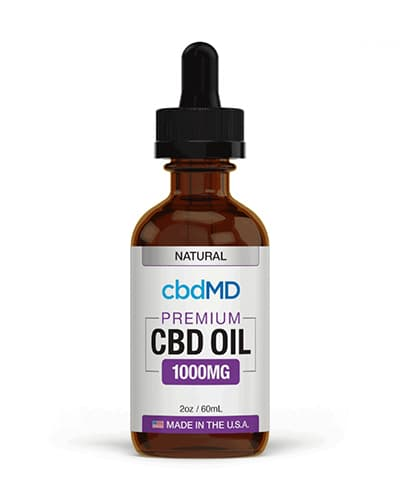 Product photo of CBDMD tincture oil.
