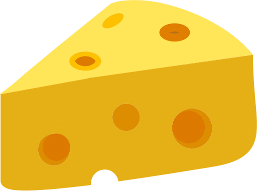 Illustration of a block of cheese