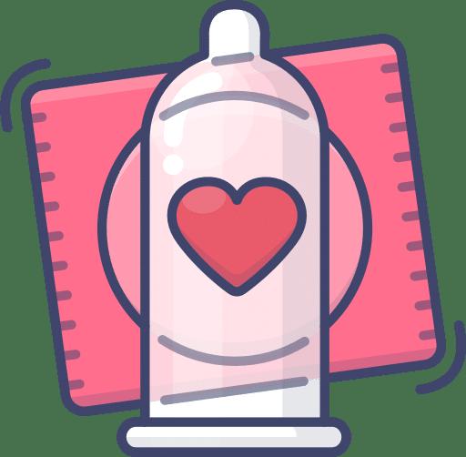 Illustration of a condom.