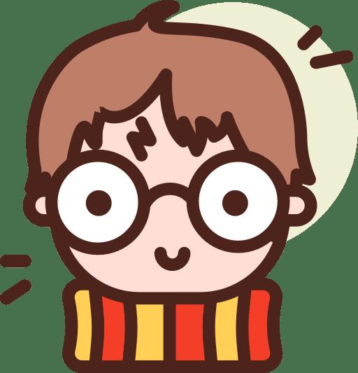 Illustration of nerdy guy