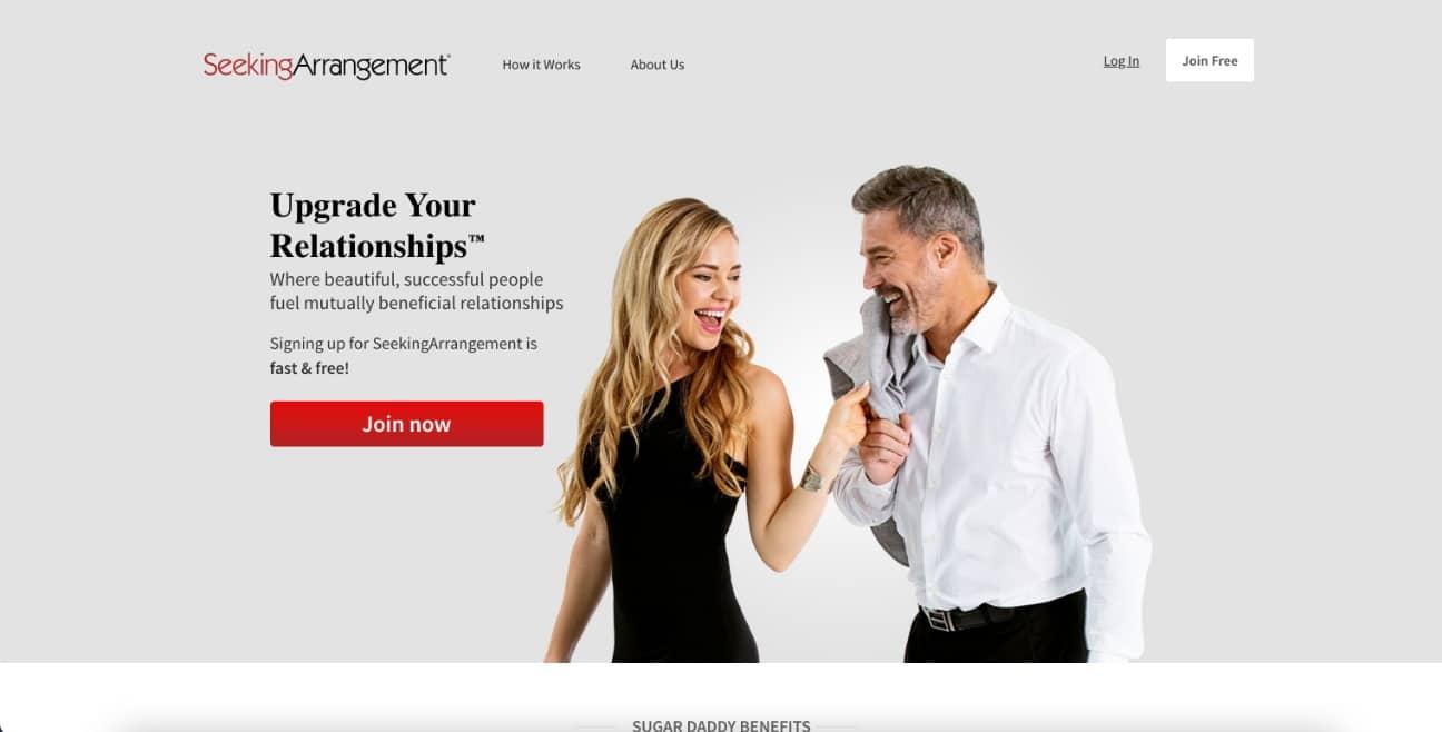 Screenshot of Seeking Arrangement.